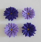 4 calamite magneti margherita color viola lilla fermatenda o da frigo in pannolenci