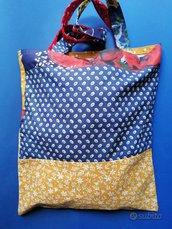 Shopping bag  provenzale, fatta a mano, bennibag Sylvie