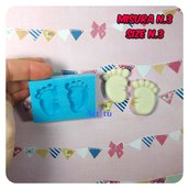 Stampo piedini neonato misura n.3 separati