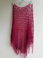 Scialle lana bordo