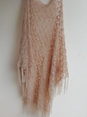 Scialle lana super kid mohair di colore beige