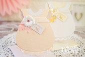 Invito Battesimo Bimba Vestitino Baby Dress