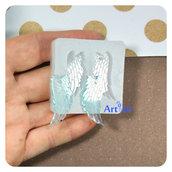 Stampo in silicone ali di angelo stampo per gioielli orecchini ciondoli stampo per resina trasparente epossidica