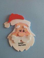 Fustellati Babbo Natale gomma crepla cartoncino