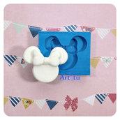 Stampo in silicone sagoma Minnie misura n2 per realizzare decorazioni in gesso resina paste modellabili