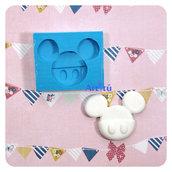Stampo in silicone sagoma Topolino Mickey Mouse misura n2 per realizzare decorazioni in gesso resina paste modellabili