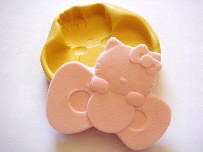 Stampo fimo Hello Kitty su fiocco