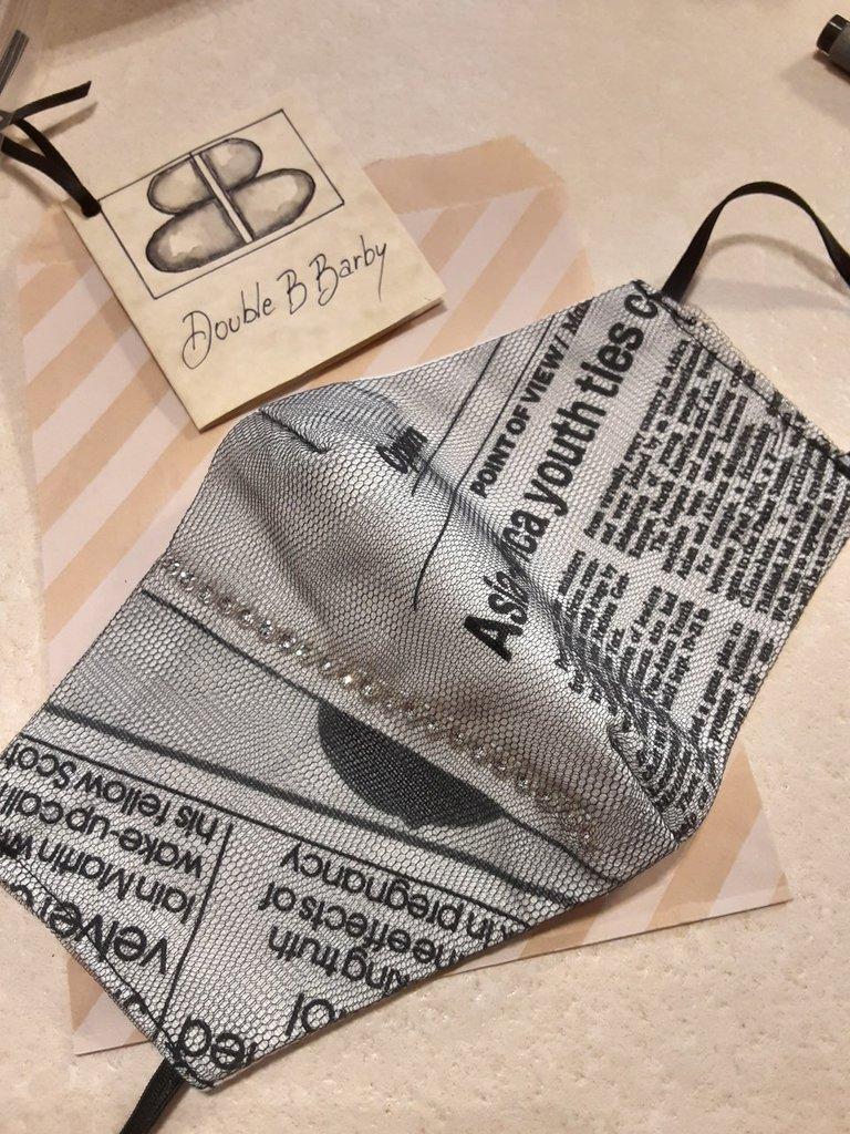 Mascherina fashion cotone 100% lavabile fatta a mano