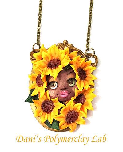 """Collanina """"Sunflowers queen"""""""