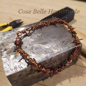 braccialetto filo spinato in rame