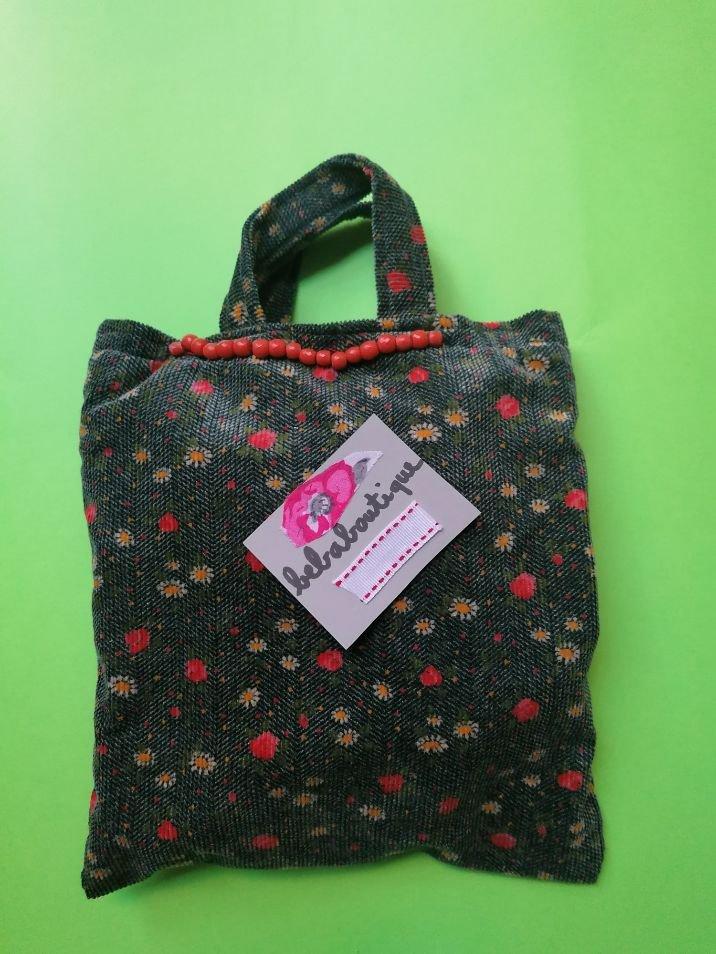 Piccola borsa in velluto a fiori, bennibag Margherita