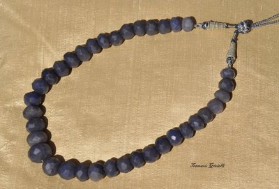MAESTOSA COLLANA IN RADICI DI  ZAFFIRO BLU  SFACCETTATE/MAJESTIC BLUE SAPPHIRE NECKLACE IN ROOTS FACETED