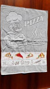 Asciughino cucina in spugna Pizza