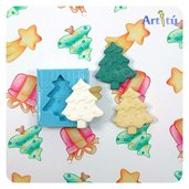Stampo in silicone forma Albero di Natale per realizzare decorazioni, fermapacco, fermaposto, piccoli regali