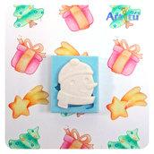 Stampo di silicone soggetto originale handmade pupazzo di neve, stampo natalizio, stampo inverno, stampo per gesso, resina, paste modellabili morbide