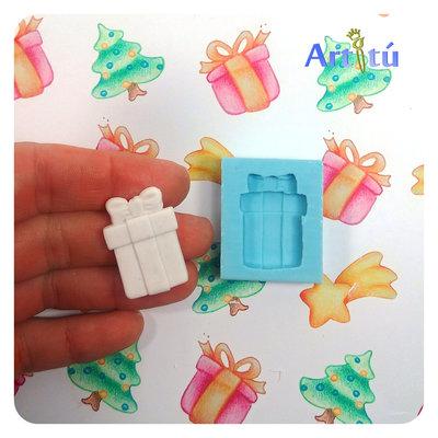 Stampino Pacco regalo per Natale o Compleanno, per fermapacchi, gessetti, decorazioni, resina