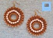 Orecchini doppio cerchio con perline