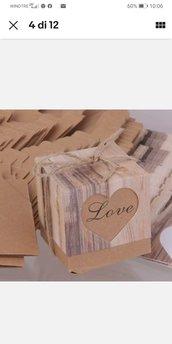 sacchettino scatola matrimonio 2021 shabby contry