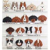 Portachiavi cane con nome personalizzato Labrador, Cavalier king regalo, portachiavi pelle finta regalo uomo, regalo mamma
