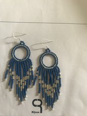 Orecchini pendenti dark blu