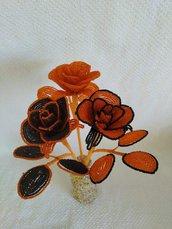 Rose halloween fiori di perline