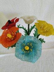 Papavero fiori di perline