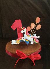 Cake topper in legno
