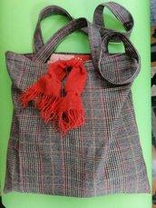 Shopper in tessuto di lana, bennibag Vivì