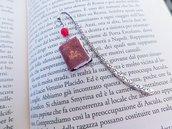 Segnalibro in metallo con mini libro Dracula