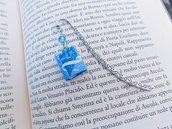 Segnalibro in metallo con mini libro Fidanzati dell'Inverno