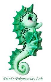 Collanina cavalluccio marino verde