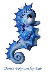 Collanina cavalluccio marino blu