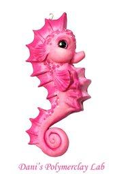 Collanina cavalluccio marino rosa
