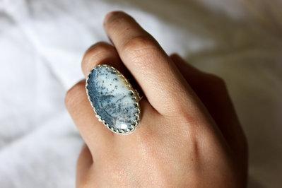 Anello in Argento 925 e Opale Dendritico   Chrysalism