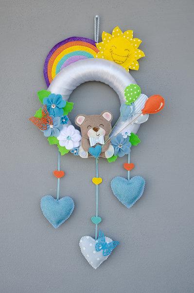 Fiocco nascita dolce orsetto,  63 x 32 cm