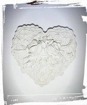 stampo silicone cuore con rose gessetti fimo resina matrimonio compleanno