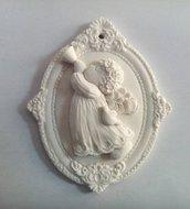 stampo silicone angelo con tromba gessetti fimo resina matrimonio compleanno battesimo comunione cresima