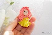 fimo principessa, Polymerclay dolls, bomboniere comunione, bomboniere fimo, statuina fimo, primo compleanno, caka topper,