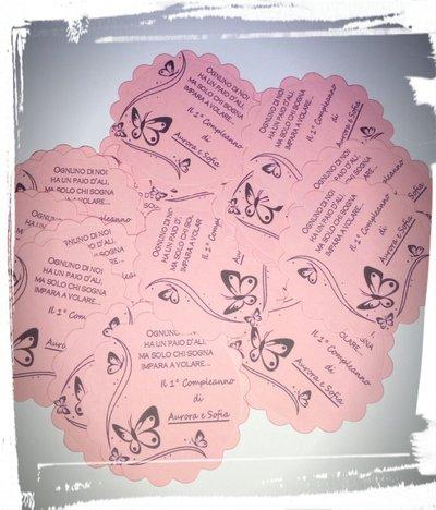 tag carta etichette decorazioni bomboniere sacchettini segnaposto sweet table gusti confettata