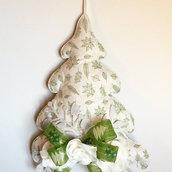 Fuori porta natalizio, albero di Natale in feltro, albero da appendere