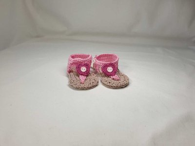 Sandalini infradito rosa, fuxia e color corda
