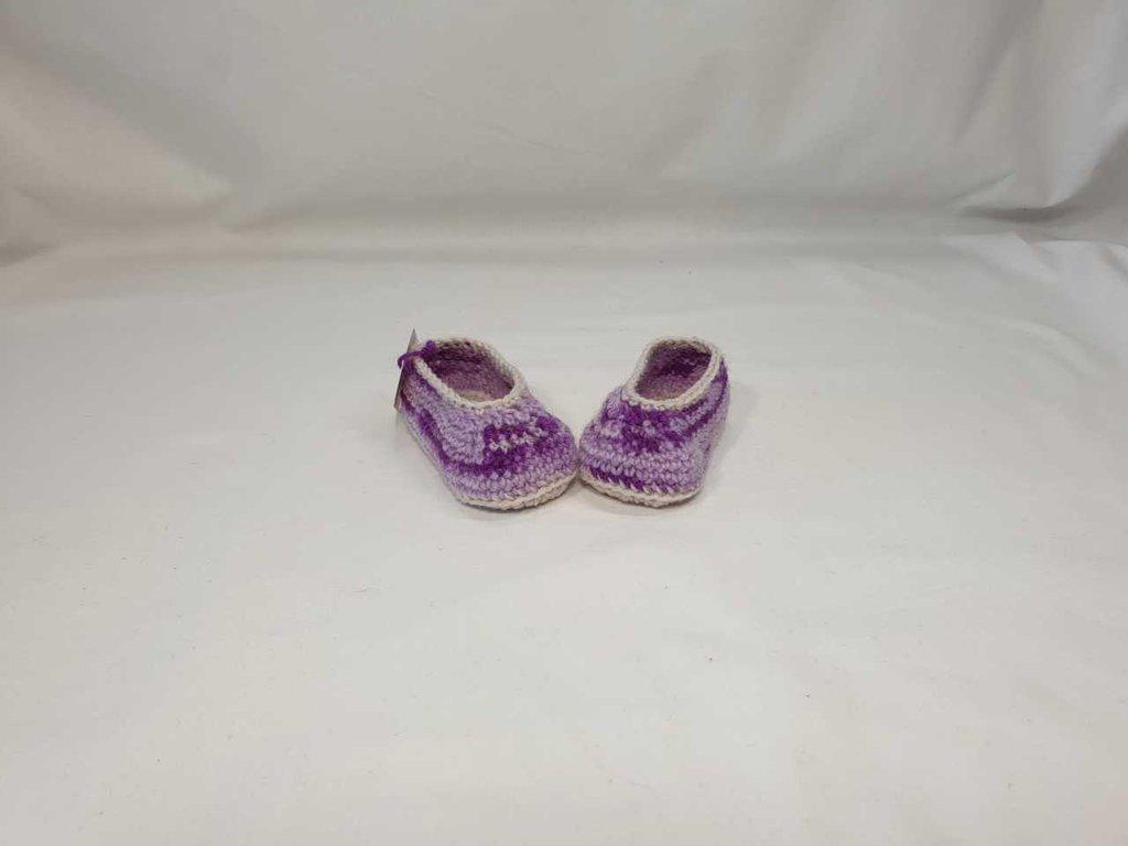 Ballerine di lana baby  sfumato lilla.