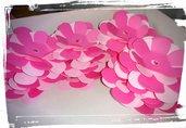 fustellati fiori fiorellini cartoncino gomma crepla decorazioni segnaposto