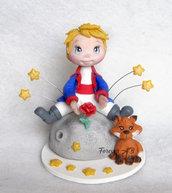 Cake topper Piccolo Principe volpe nascita battesimo primo compleanno bimbo Spedizione Gratuita