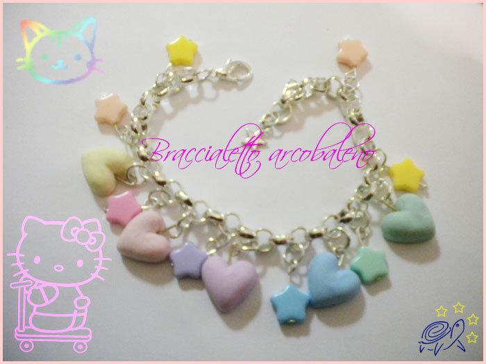braccialetto arcobaleno