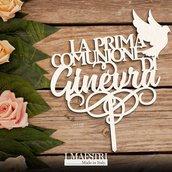 Cake topper PRIMA COMUNIONE personalizzabile con nome e con decori a scelta - I Maestri Made in Italy