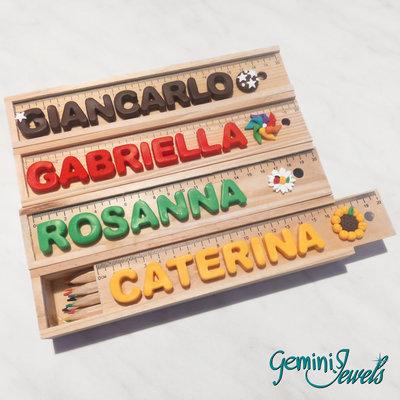 Set matite in legno personalizzato con nome