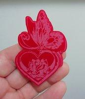 Stampo Farfalla su Cuore con Fiore