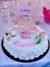 cake topper compleanno fimo, albero della vita fimo, cake topper in fimo battesimo compleanno, idea regalo fatto a mano