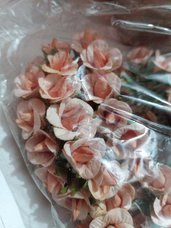 set 10 boccioli roselline in tessuto fiori decorazioni bomboniere sacchettini fai da te